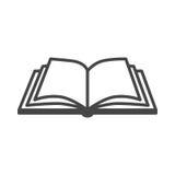 Otwiera książkową wektorową ikonę Fotografia Royalty Free