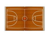 Otwiera książkowego boisko do koszykówki ilustracja wektor