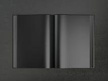 Otwiera książkowego czarnego mockup Zdjęcia Stock