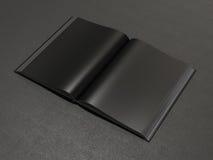 Otwiera książkowego czarnego mockup Fotografia Stock