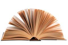 Otwiera książkowego hardcover odizolowywającego na białym tle Zdjęcia Royalty Free