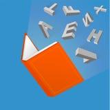 Otwiera książkowego kreskówka rysunek Zdjęcie Stock
