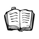 Otwiera książkowego rysunek Zdjęcia Stock