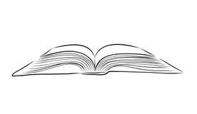 Otwiera książkowej ręki remis royalty ilustracja