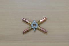 Otwiera narzędzie dla reparing rzecz, ie lotniczego conditioner ilustracyjny rozszczepiony system Zdjęcia Royalty Free