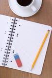 Otwiera notatnika obrazy stock