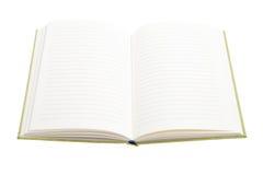 Otwiera notatnika na białym tle Fotografia Royalty Free