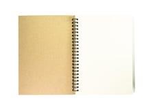 Otwiera notatnika z białą stroną Zdjęcia Royalty Free