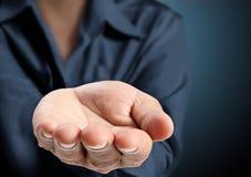 Otwarta palmowa ręka Obraz Stock