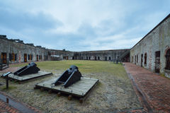 Otwiera podwórze Cywilna wojna Fort2 Obraz Royalty Free