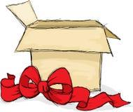 Otwiera prezenta pudełko - wektorowa ilustracja Obrazy Stock