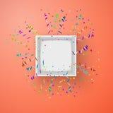 Otwiera pudełko z fajerwerkami od confetti wektoru Obrazy Royalty Free