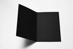 Otwiera pustą czerni kartę Zdjęcie Royalty Free