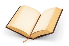 Otwiera pustą hardcover książkę - ścinek ścieżka Zdjęcie Stock