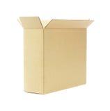 Otwiera Pustego Papierowego pudełko Zdjęcia Stock