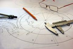 Otwiera rysunki z ołówkiem Konstruować i projekt Obraz Stock