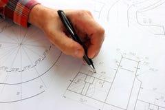 Otwiera rysunki z ołówkiem Konstruować i projekt Zdjęcie Royalty Free