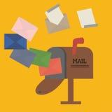 Otwiera skrzynkę pocztowa z kopertą Obrazy Stock
