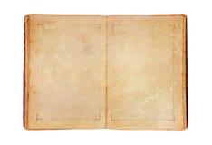 Otwiera starą książkę Zdjęcie Royalty Free