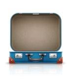 Otwiera starą retro rocznik walizkę dla podróży Obrazy Royalty Free