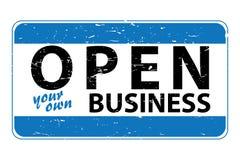 Otwiera twój swój biznes ilustracji