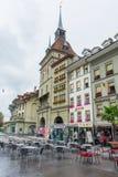Otwiera uliczną restaurację w Bern Switzerland Fotografia Royalty Free