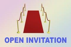 OTWIERA zaproszenia pojęcie royalty ilustracja