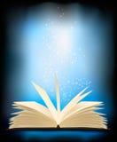 otwierająca książkowa lekka magia Fotografia Stock