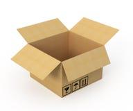 otwierający pudełkowaty karton Obrazy Royalty Free