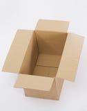 otwierający pudełkowaty karton Zdjęcie Royalty Free