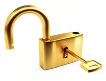 otwierający złocisty kędziorek ilustracja wektor