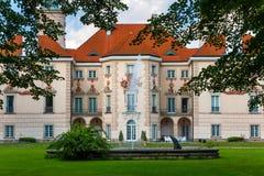 Otwock Wielki slott, Polen Arkivbild