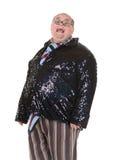 Otyły mężczyzna z oburzającym moda sensem Obraz Royalty Free