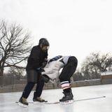 otynkowanie w hokeja na lodzie obrazy stock