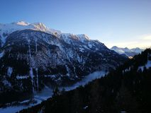Otztaler Alpen,提洛尔,奥地利 免版税图库摄影