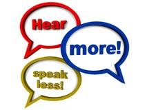 Habilidades de escuta Fotos de Stock Royalty Free