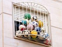 Ou ballons de football 2011 de Yehuda Images libres de droits