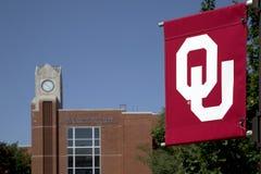 OU sign and University of Oklahoma building USA. OU sign and University of Oklahoma building, Oklahoma city USA stock photo