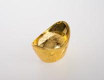 Or ou symboles chinois de moyen de lingot d'or de la richesse et de la prospérité Images libres de droits