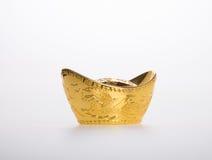Or ou symboles chinois de moyen de lingot d'or de la richesse et de la prospérité Images stock