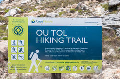 Ou Tol Hiking Trail sign in the historic Swartberg Pass Stock Images