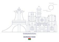 Ouagadougou miasta linia horyzontu, Burkina Faso Obrazy Stock
