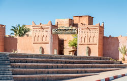 Ouarzazate的戏院博物馆,摩洛哥 库存照片