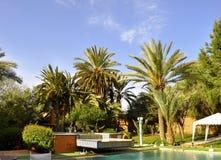 旅馆庭院, Ouarzazate 免版税库存照片