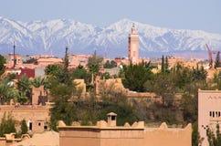 Εικονική παράσταση πόλης Ouarzazate, Μαρόκο Στοκ Εικόνα
