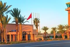 Ouarzazate, Maroc - 28 février 2016 : Aéroport d'Ouarzazate Ouarzazate a surnommé la porte du désert, est une ville et une capita Image libre de droits