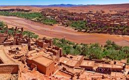 Ouarzazate Maroko architektura i podróże Wioska i rzeka Zdjęcia Stock