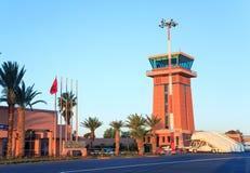 Ouarzazate Maroko, Feb, - 28, 2016: Ouarzazate lotnisko Ouarzazate nadawał przezwisko drzwi pustynia, jest, kapitałem Ouarz i mia Obraz Stock