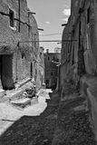 Ouarzazate (Morocco) 6. Casbah of Taourirt, INSIDE OF casbah in Ouarzazate. Streets Stock Images