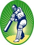 Ouate en feuille de batteur de cricket Image libre de droits